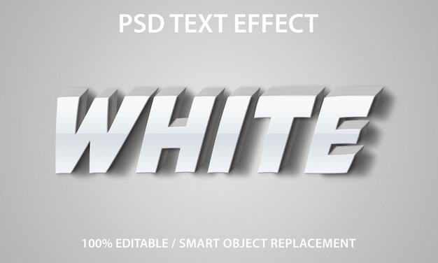 Efeito de texto editável branco premium
