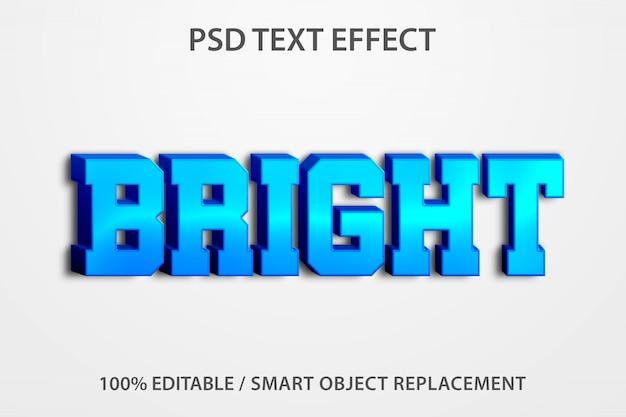 Efeito de texto editável brilhante