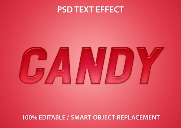 Efeito de texto editável candy premium