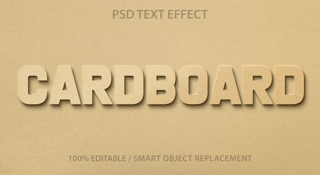 Efeito de texto editável cardboard premium