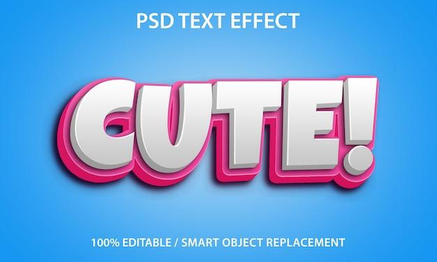 Efeito de texto editável cute premium