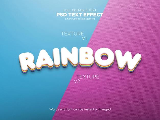 Efeito de texto editável de arco-íris