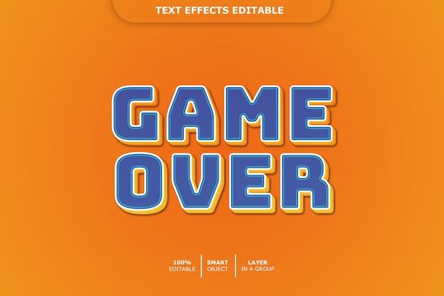 Efeito de texto editável de game over