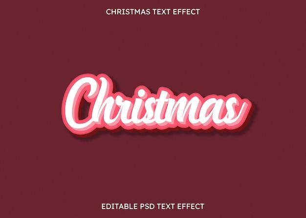 Efeito de texto editável de natal 3d com aparência de doce
