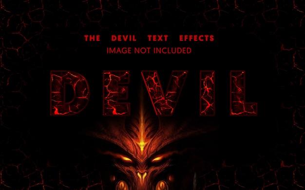 Efeito de texto editável do diabo