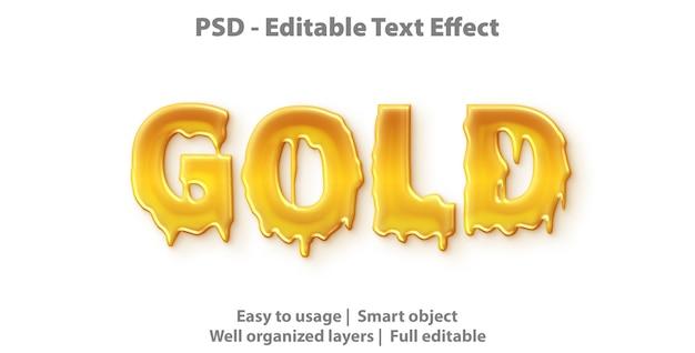 Efeito de texto editável dourado