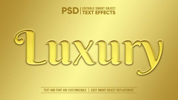 Efeito de texto editável em ouro escovado luxo 3d