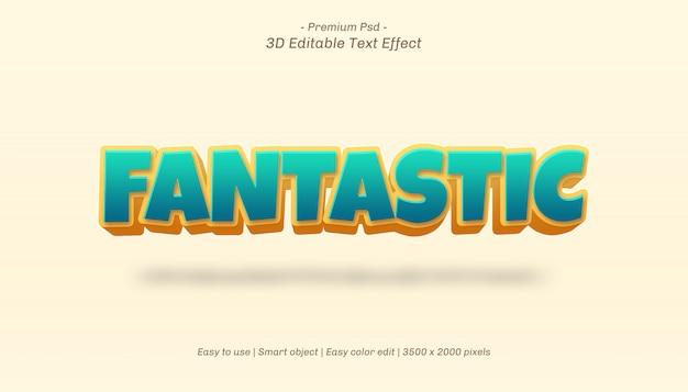 Efeito de texto editável fantástico em 3d
