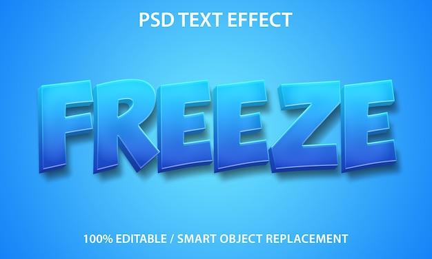 Efeito de texto editável freeze premium