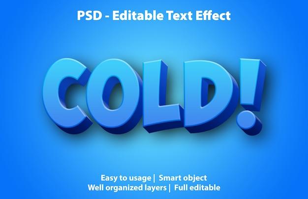 Efeito de texto editável frio