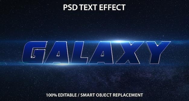 Efeito de texto editável galaxy