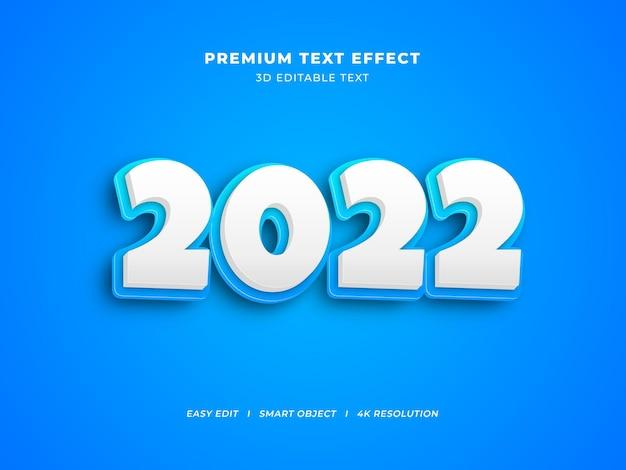 Efeito de texto editável ice blue creative ano novo