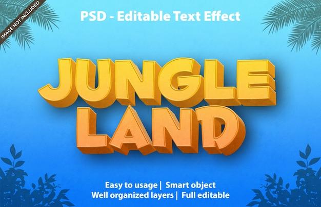 Efeito de texto editável jungle land
