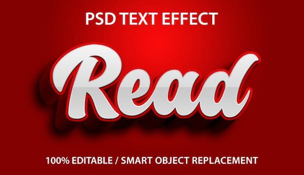 Efeito de texto editável leia premium