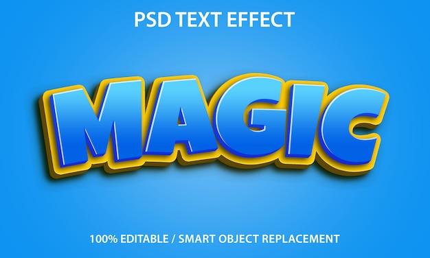 Efeito de texto editável magic premium