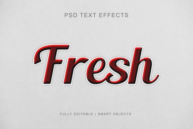 Efeito de texto editável moderno estilo gráfico