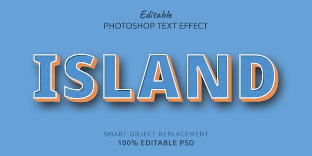 Efeito de texto editável na ilha