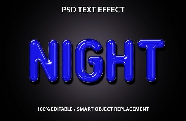 Efeito de texto editável night premium