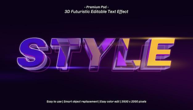 Efeito de texto editável no estilo 3d