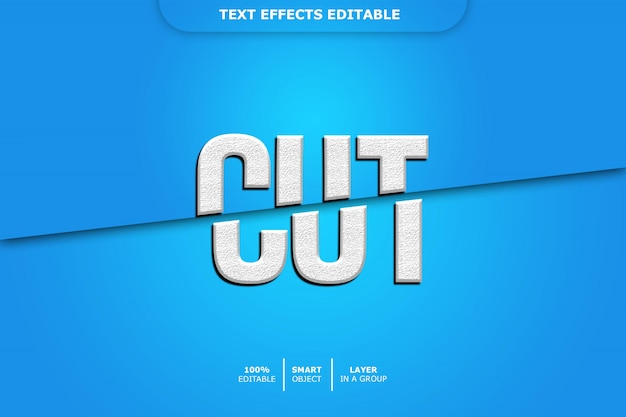 Efeito de texto editável - recortar