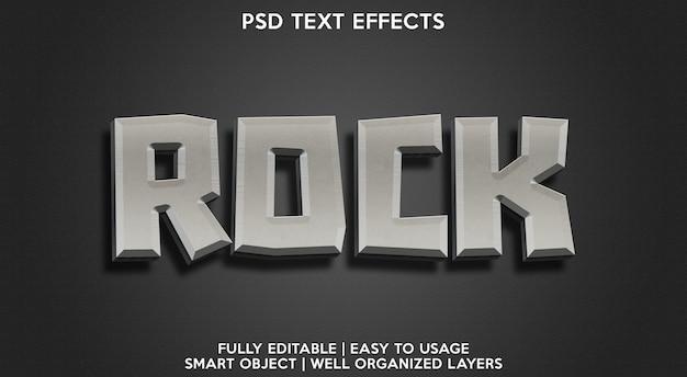 Efeito de texto editável rock moderno