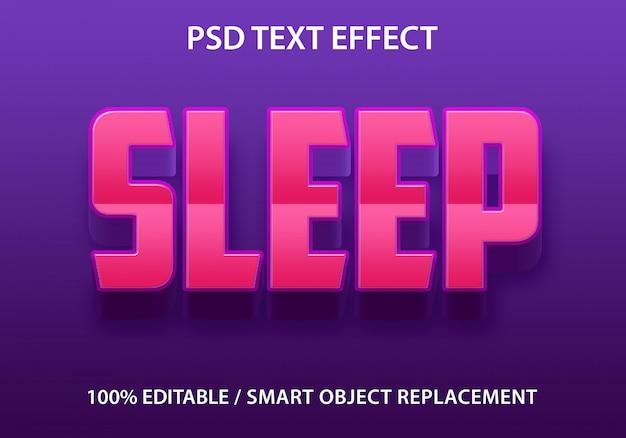 Efeito de texto editável sleep premium