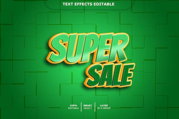 Efeito de texto editável - super venda