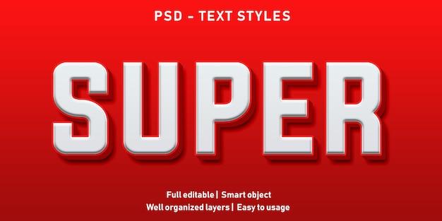 Efeito de texto editável super