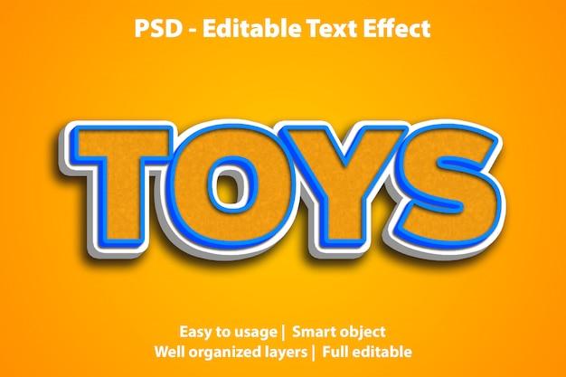 Efeito de texto editável toys premium