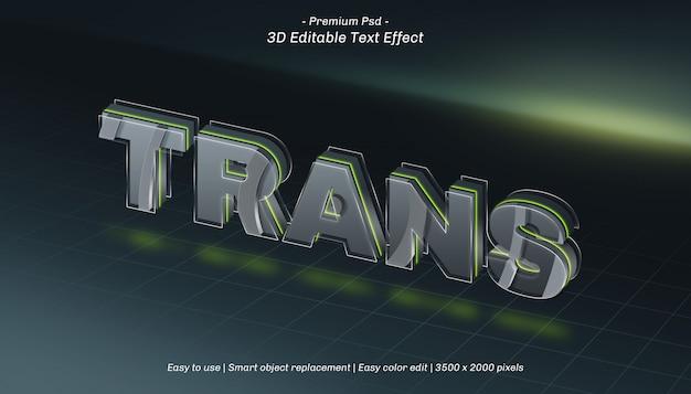Efeito de texto editável trans 3d