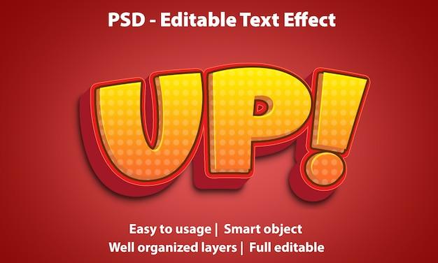 Efeito de texto editável up premium