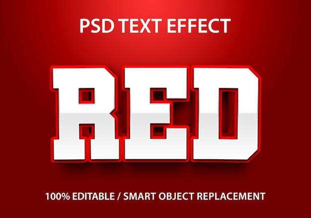 Efeito de texto editável vermelho
