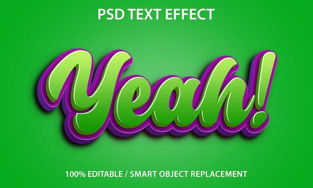 Efeito de texto editável yeah green