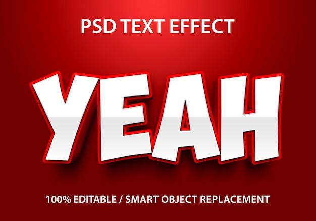 Efeito de texto editável yeah premium