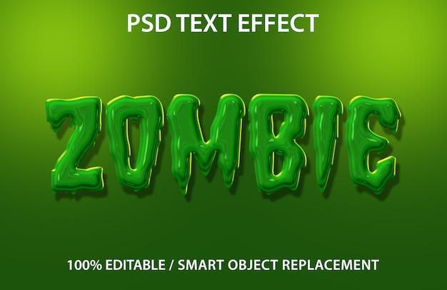 Efeito de texto editável zombie premium