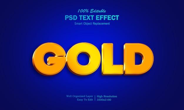 Efeito de texto em 3d ouro