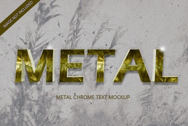 Efeito de texto em estilo metal