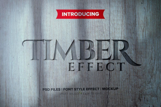 Efeito de texto em madeira