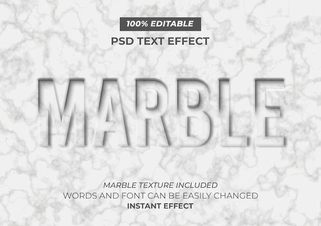 Efeito de texto em mármore
