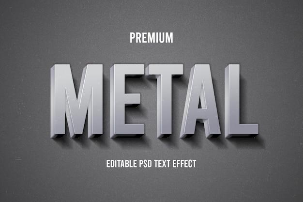 Efeito de texto em metal