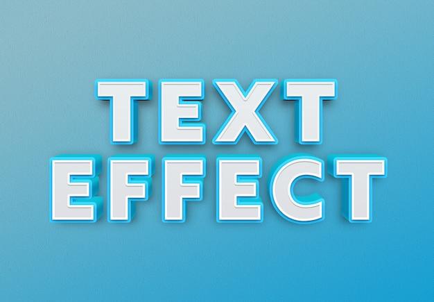 Efeito de texto em negrito azul
