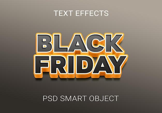 Efeito de texto em negrito sexta-feira negra