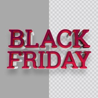 Efeito de texto em néon black friday renderização em 3d
