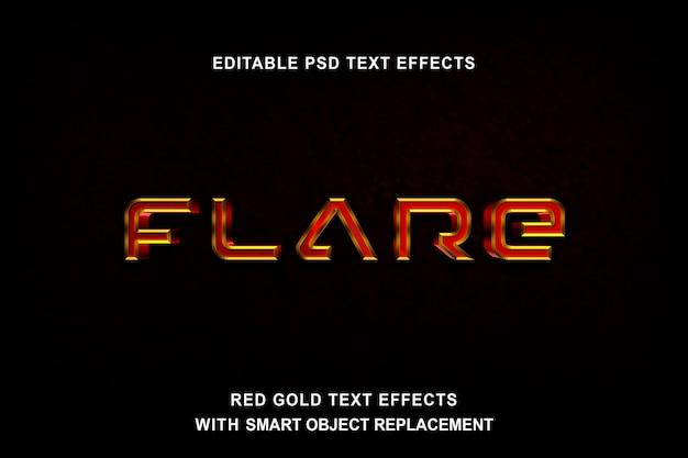 Efeito de texto em ouro vermelho