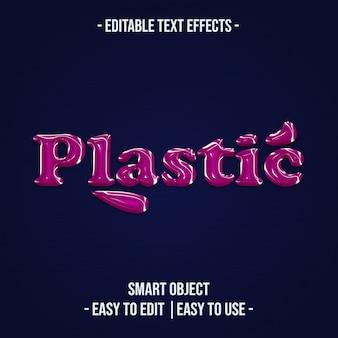 Efeito de texto em plástico