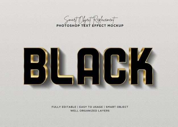 Efeito de texto em preto estilo 3d