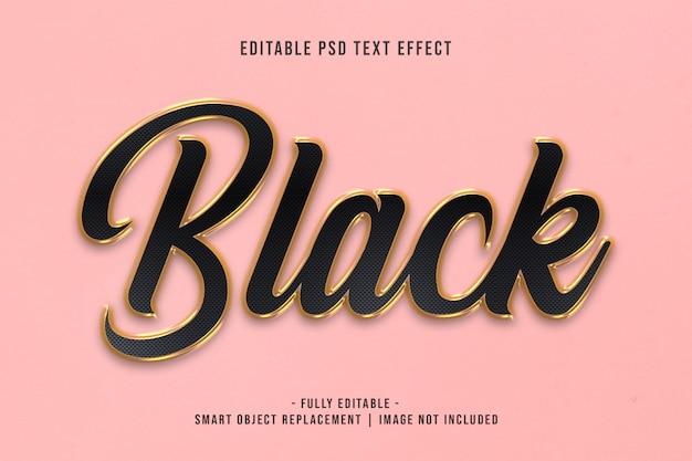 Efeito de texto em preto