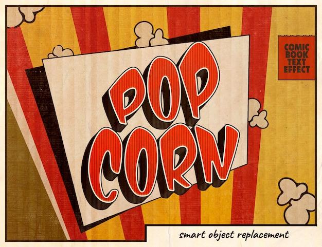 Efeito de texto em quadrinhos pop art