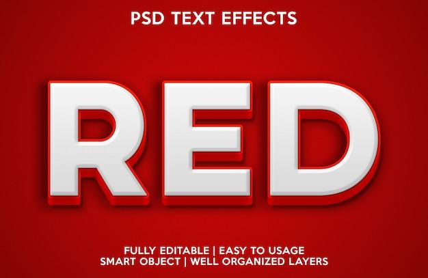 Efeito de texto em vermelho
