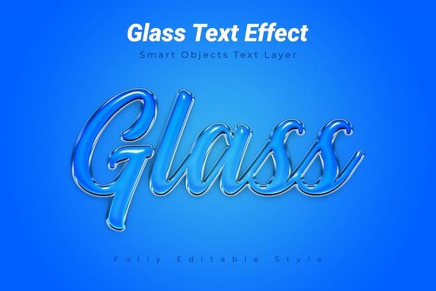 Efeito de texto em vidro